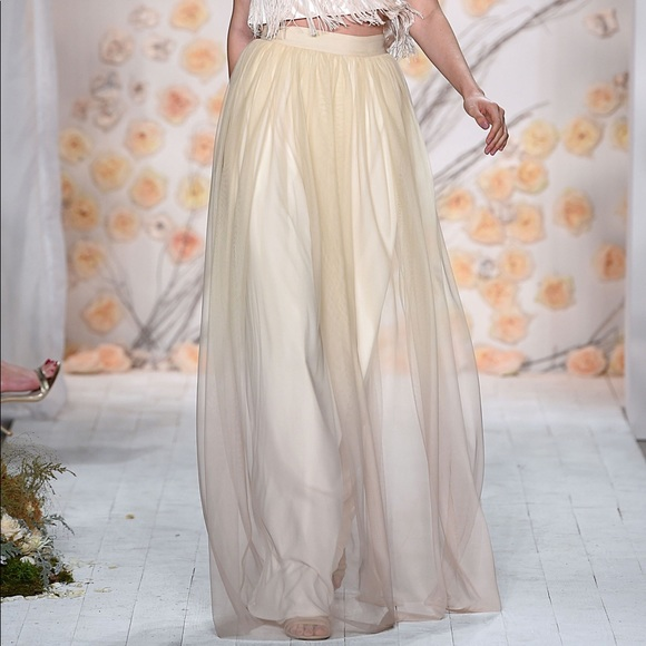 557b7be1e LC Lauren Conrad Skirts   Lauren Conrad Champagne Ombr Tulle Maxi ...